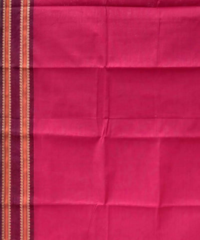 Red handwoven tamil nadu cotton saree