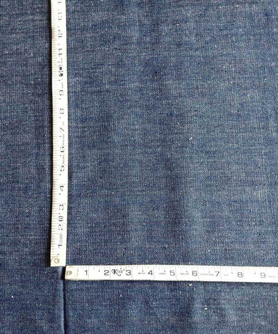 indigo white denim handwoven cotton trouser jacket Thick Material