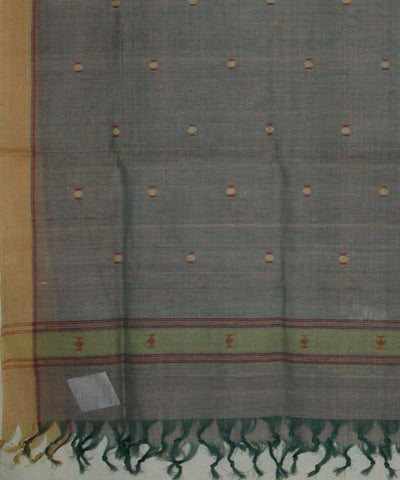 Grey Handspun Handwoven Cotton Jamdani Dupatta