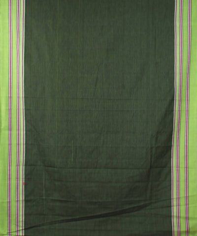 black green handwoven Stripe gomi dadi border ilkal saree