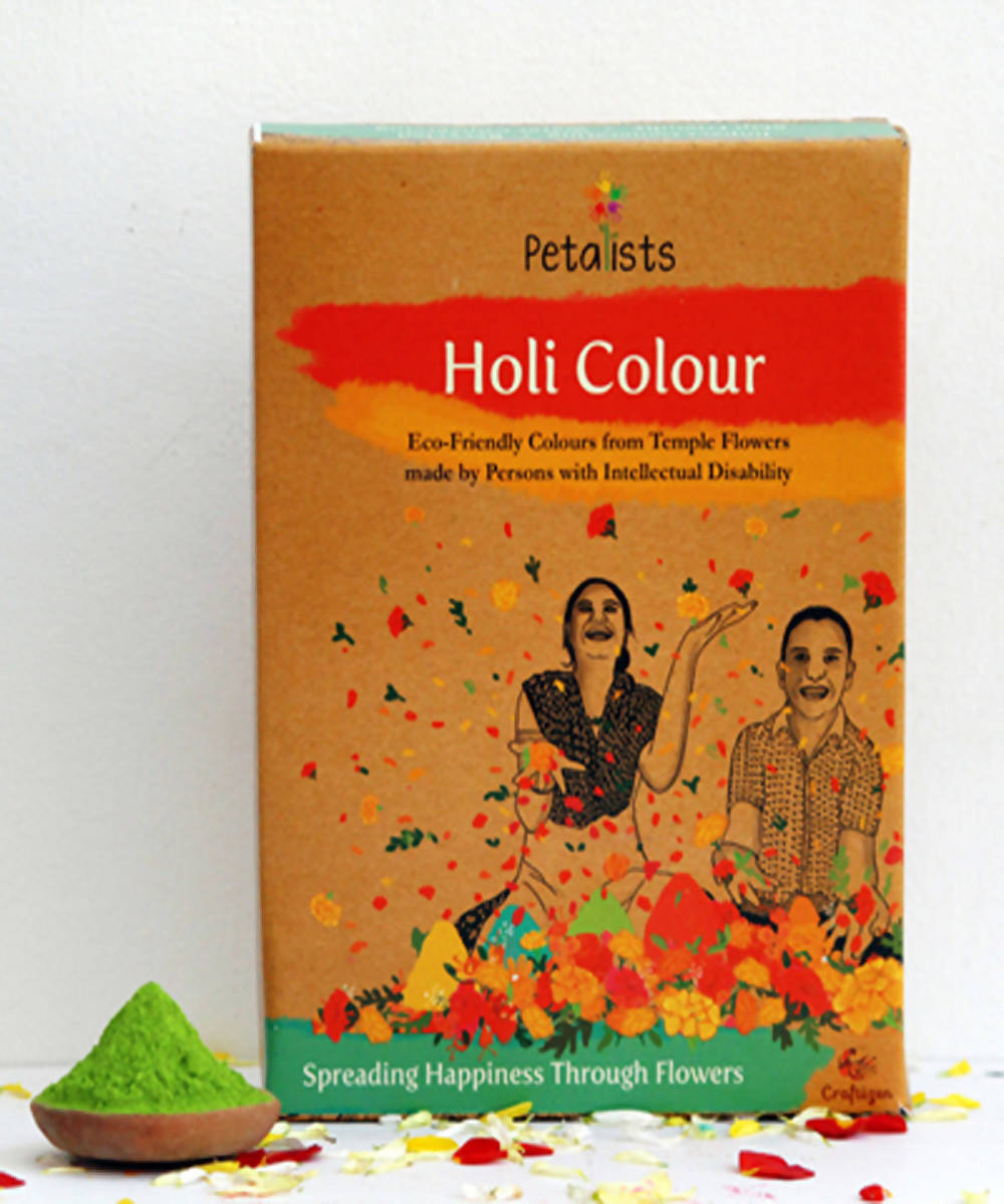 Petalists eco friendly holi colour green