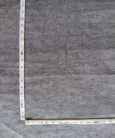 cotton yarn dyed handspun handwoven grey kurta fabric