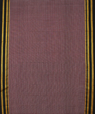 Maroon Checks Ilkal Handloom Saree