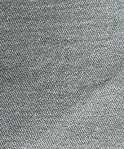 Grey handspun handwoven cotton Denim trouser and jacket fabric