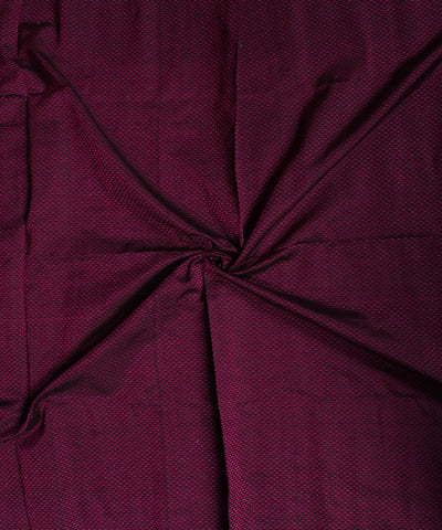 Magenta Violet Hand Embroidery Cotton Khana Blouse Piece