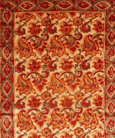 Handprinted Kalamkari Cotton Durrie