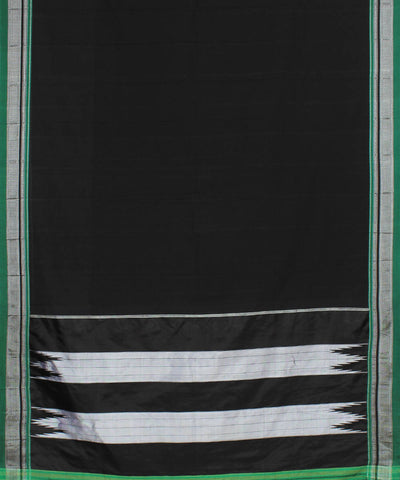 Black Handloom Ilkal Cotton Saree