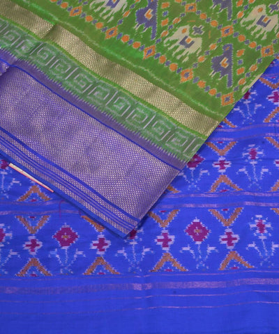 Handloom green blue silk pochampally saree