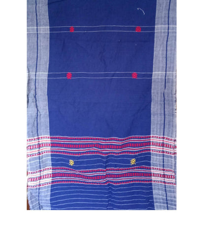 Indigo Handwoven Cotton Natural Dyed Kotpad Stole