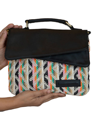 Multi Colored Handwoven Cotton Sling Bag