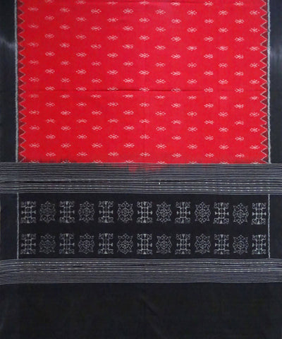 Red Sambalpuri Ikat Handloom Cotton Dupatta
