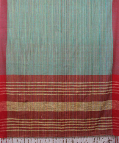 Pale Green Bengal Handwoven Cotton Saree