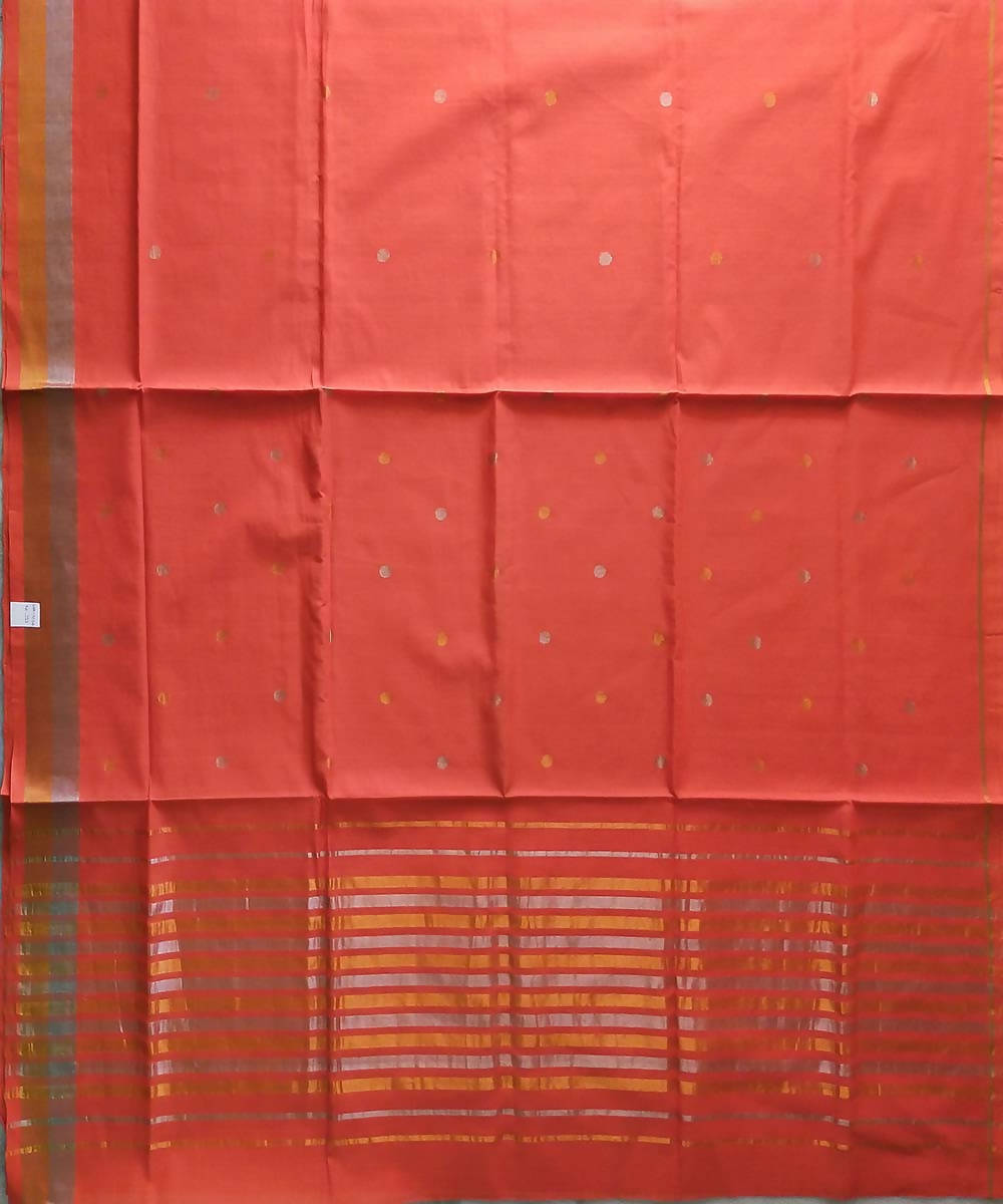 Light orange handloom venkatagiri cotton saree