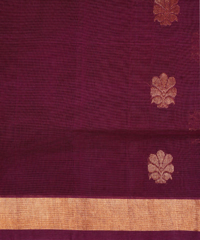 Handloom Violet Venkatagiri Cotton Saree