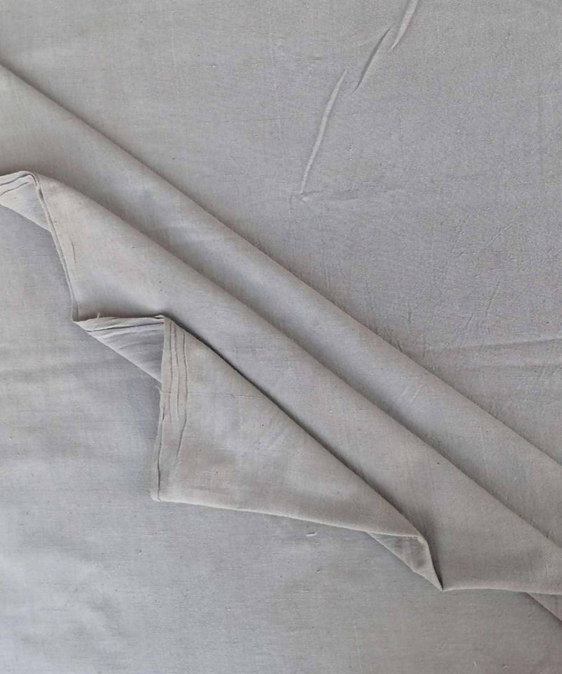grey natural dye handspun handloom Cotton fabric (10m per quantity)