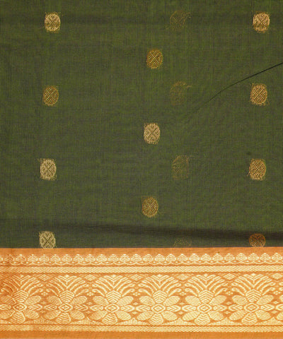 Venkatagiri Handloom cotton Saree in Green