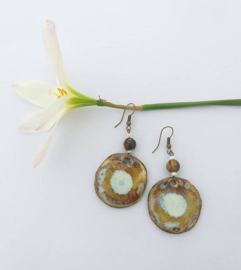 Tiger Eye Shade Ceramic Dangler