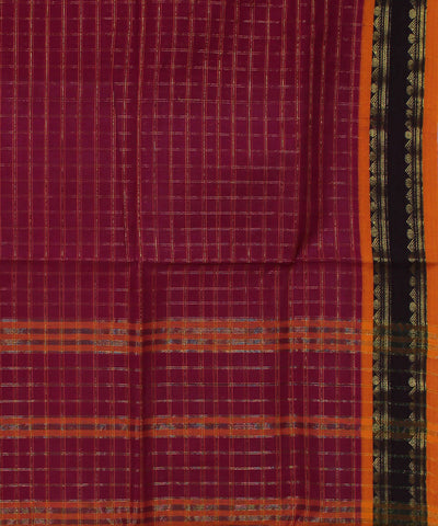 Handloom Magenta Pink Narayanpet Cotton Saree