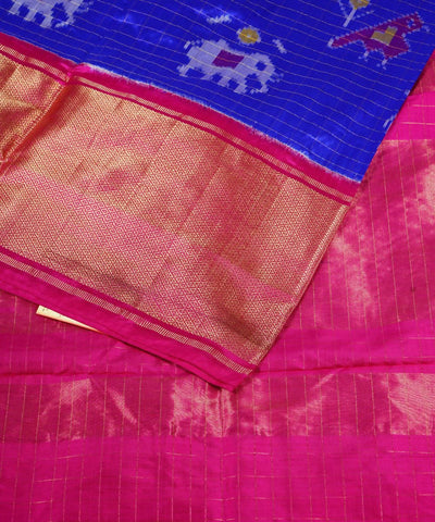 Royal Blue Handloom Pochampally Silk Saree