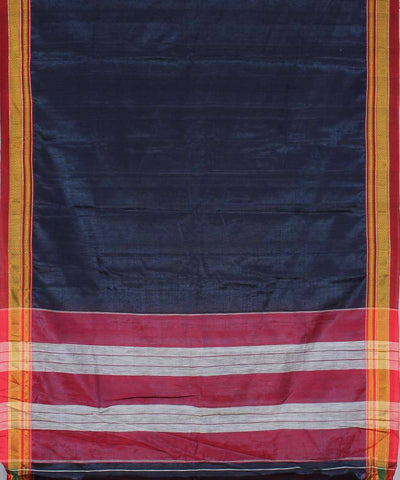 Prussian blue handwoven wine red chikki paras border ilkal saree