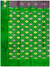 Ikat Pure Silk Saree Green and Purple