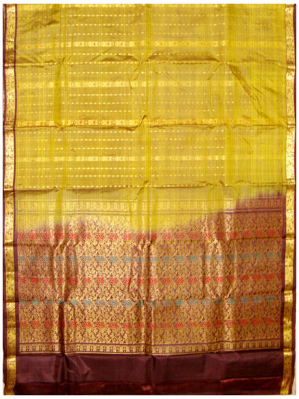 Dharmavaram Pure Silk Fancy saree Mixed shades