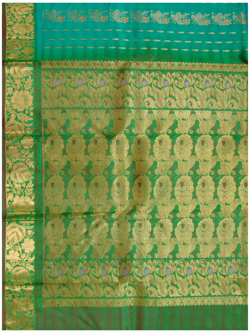 Dharmavaram Pure silk saree Ananda Blue shade