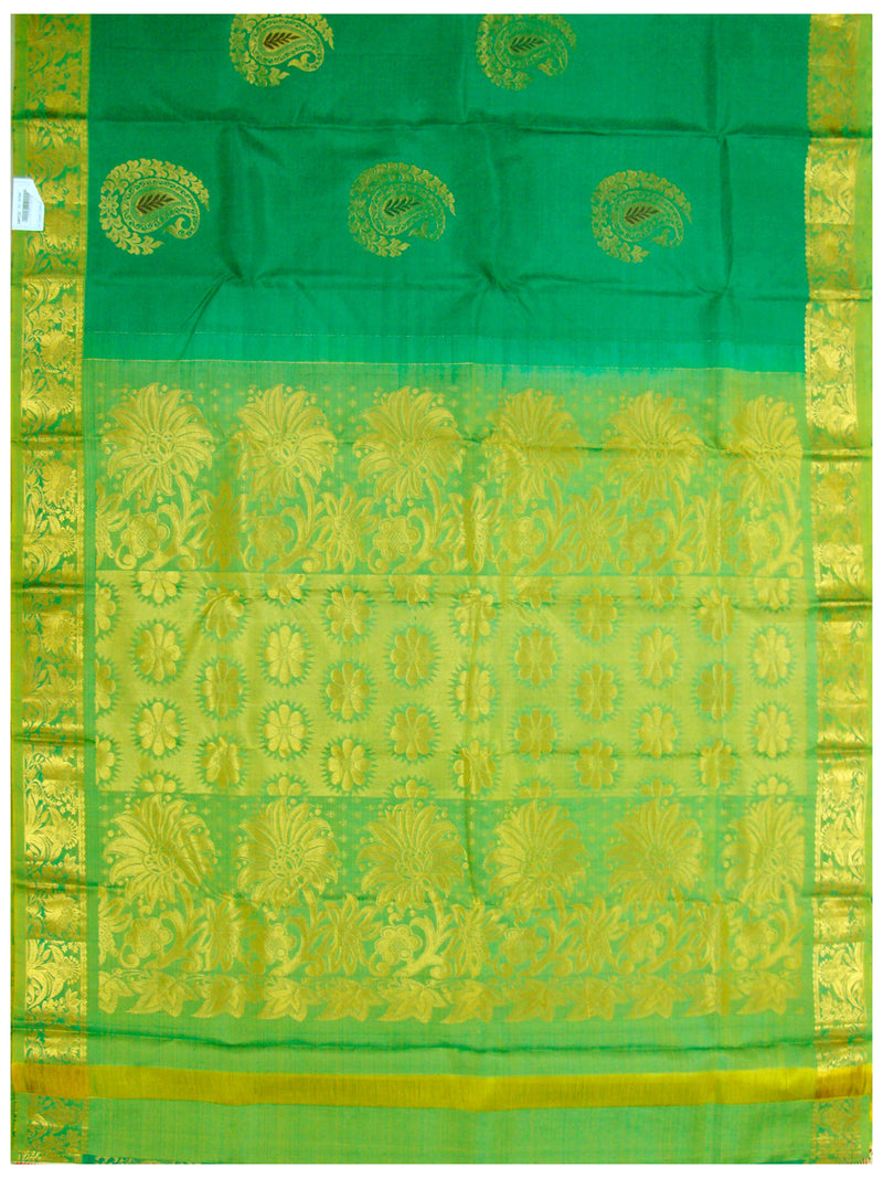 Dharmavaram Pure silk saree Ananda Green
