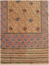 Printed silk saree Light Brown