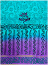 Printed silk saree Light Ananada Blue Shade