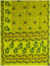 Printed silk saree Lemon Yellow shade