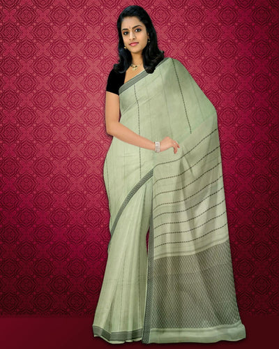 Rajahmundry Fancy Cotton Saree Slate Shade