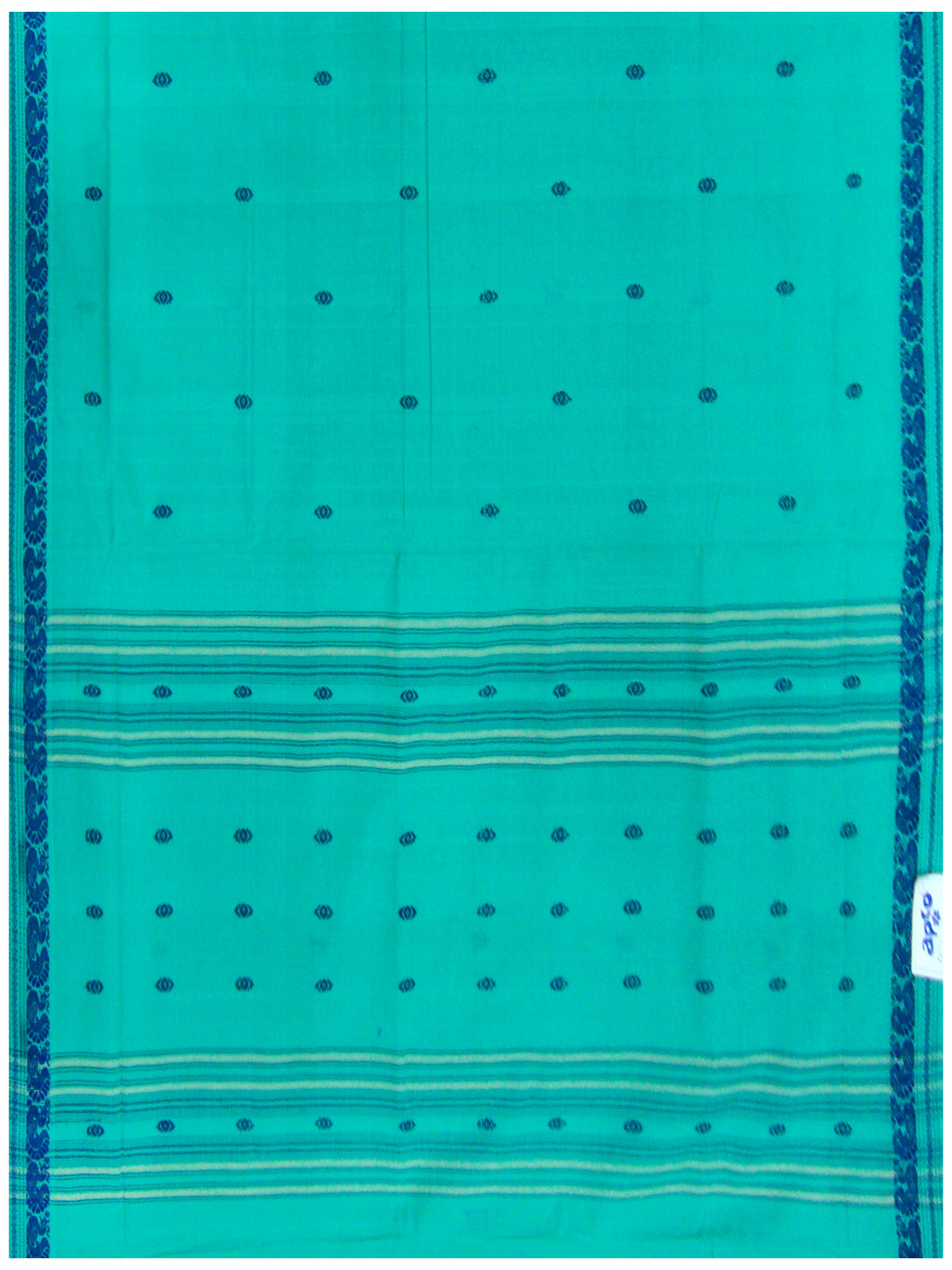 Bandar cotton saree Light Ananda Blue Shade