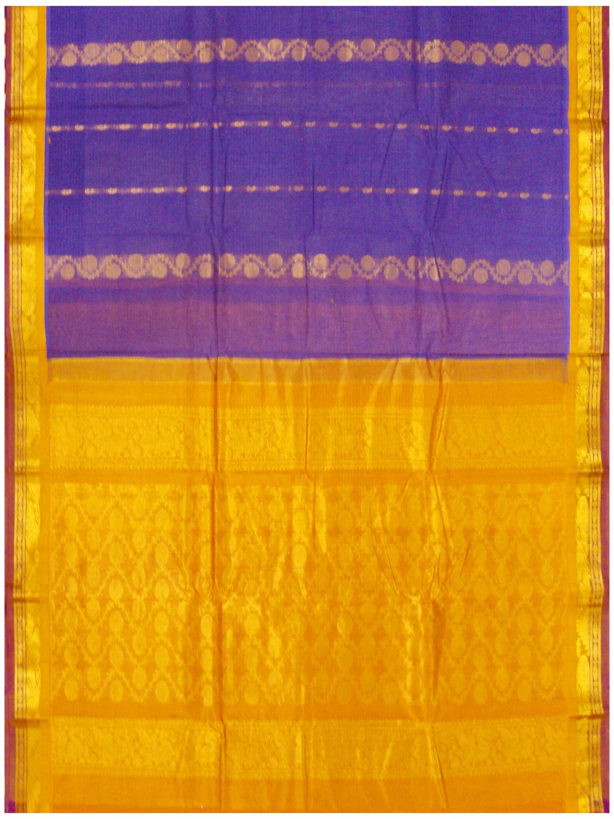 Chirala NIFT Gadwal cotton saree Violet Shade