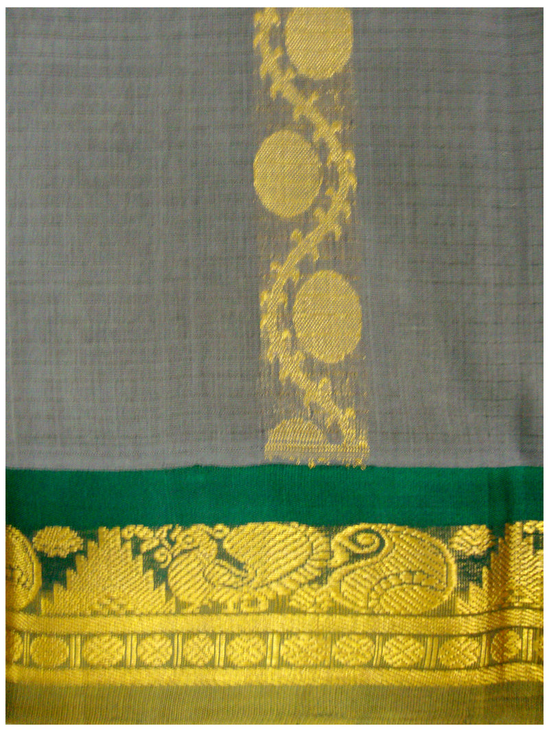 Chirala NIFT Gadwal cotton saree Slate Shade