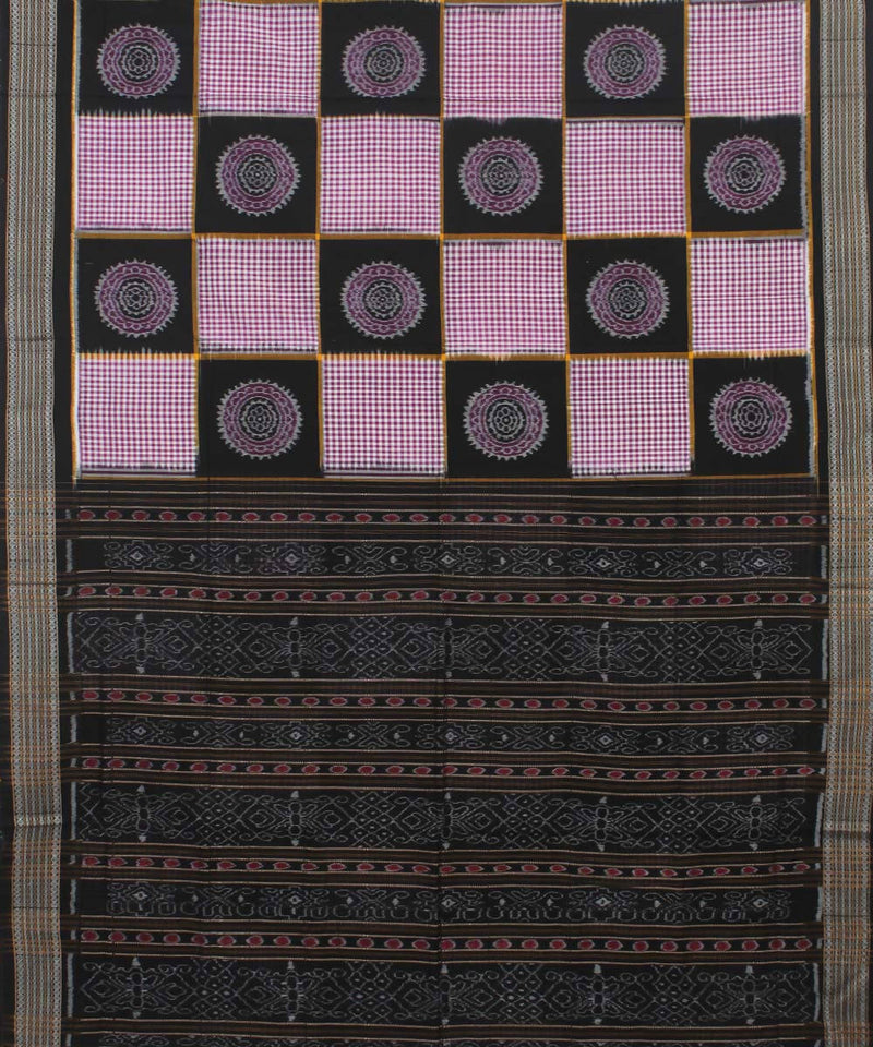 Sambalpuri Lavender Handloom Cotton Saree