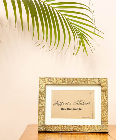 Dhokra brass handmade photo frame