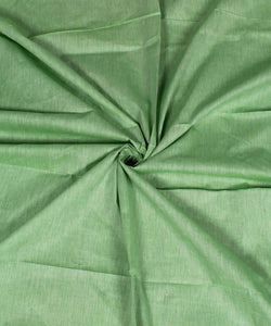 Light Green Handloom Khadi Cotton Fabric