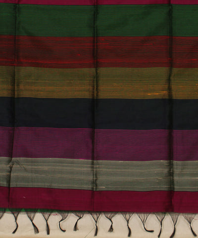 Khadi Nation Purple Handwoven Raw Silk Saree
