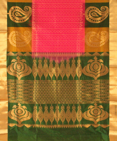 Khadi Nation Multicolor Handwoven Silk Saree