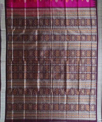 Bright Pink Bomkai Silk Handloom Saree