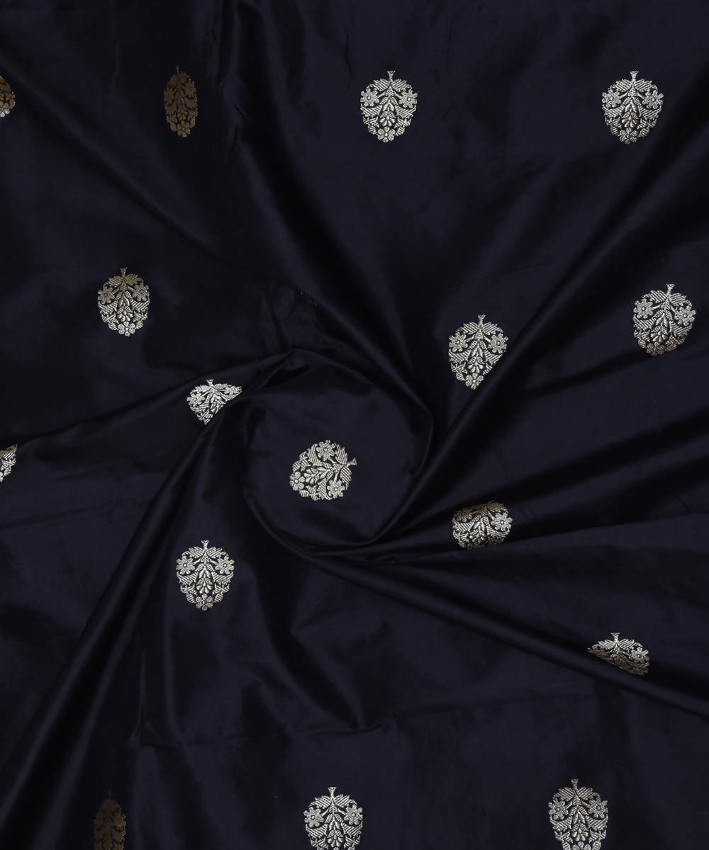 Banarasi Black Handloom Silk Fabric
