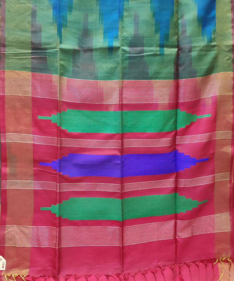 multicolor handwoven venkatagiri silk saree