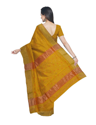 Maheshwari Handloom Yellow Orange Saree