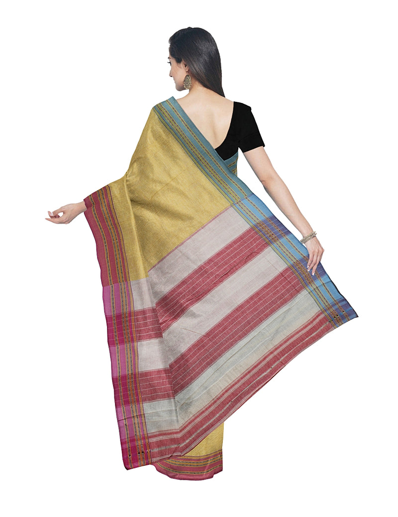 Yellow Handloom Hubli Cotton Saree