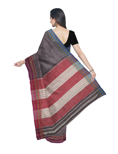 Light Grey Handloom Hubli Cotton Saree