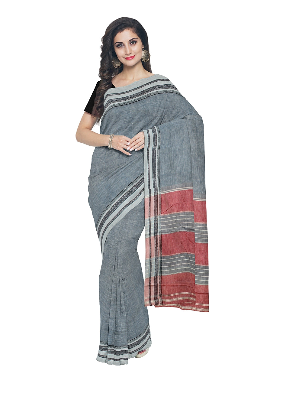 Light Blue Handloom Hubli Cotton Saree