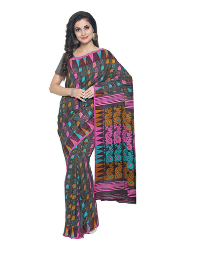 Multicolor Handloom Bengal Jamdani Saree