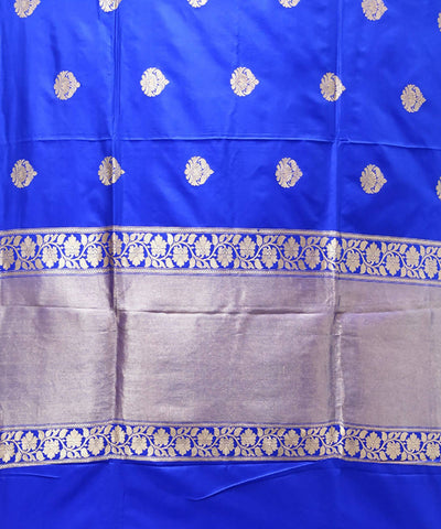 Banarasi Katan Silk Royal Blue Handloom Saree