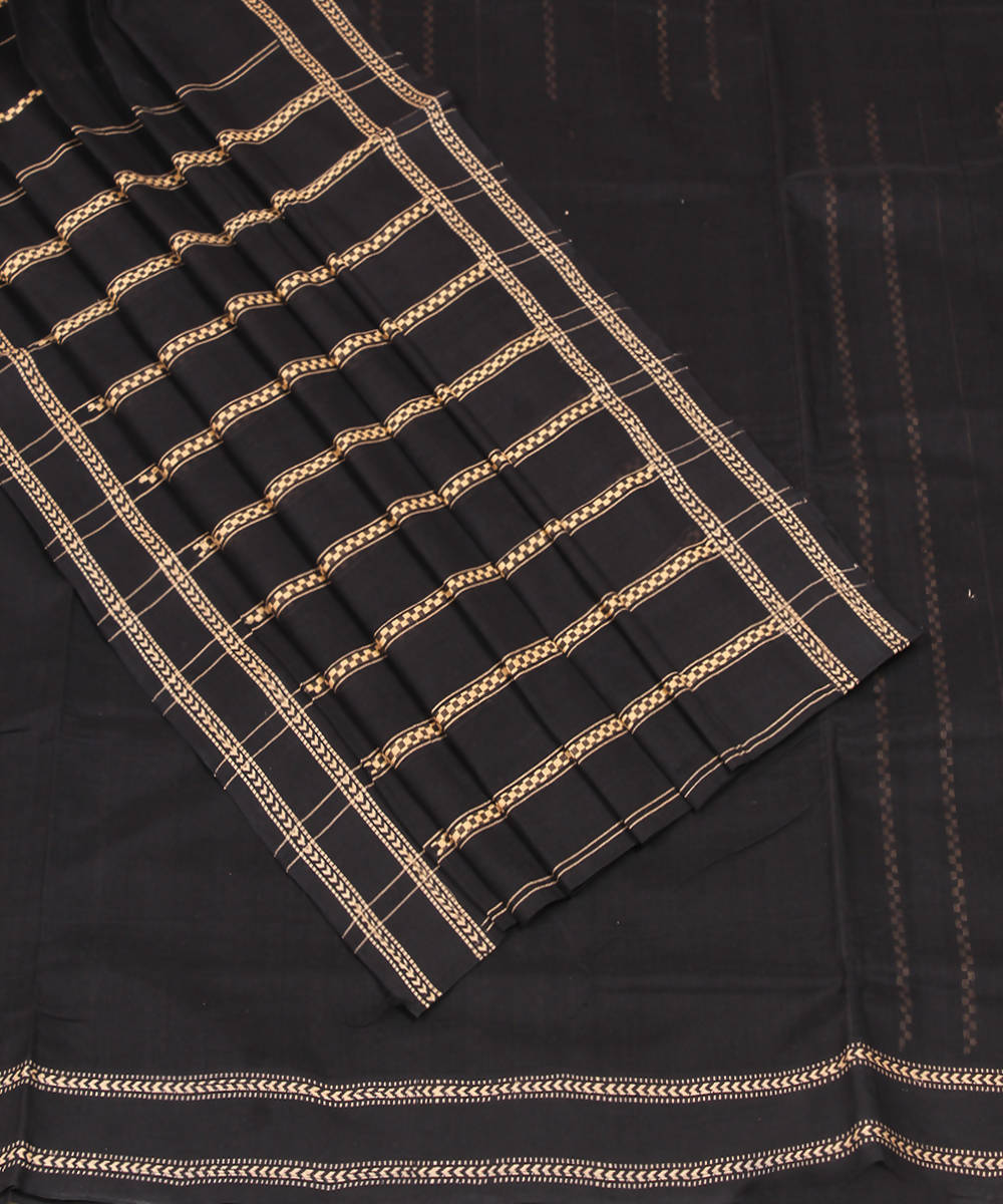 Mangalagiri Black Handwoven Cotton Saree